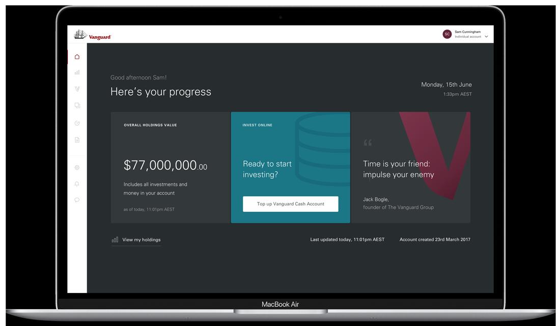 Screenshot of Vanguard Online