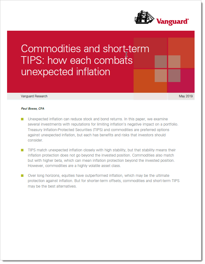 Commodities and short-term TIPS help combat unexpected inflation