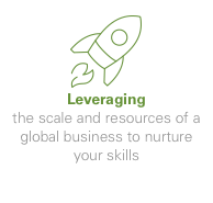 Leveraging - the scale and resources of a global business to nurture your skills