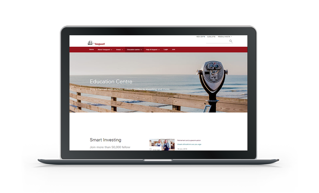 vanguard.com.au is getting a brand new look