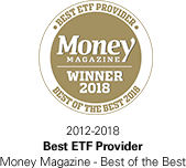Money Magazine - Best ETF Provider 2012-2018