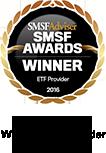 SMSF Adviser - Winner ETF Provider 2015-2017