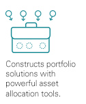 Constructs portfolio solutions with powerful asset allocation tools.