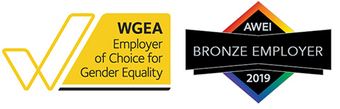 WGEA: Employer of Choice for Gender Equality; and AWEI - Bronze employer 2019