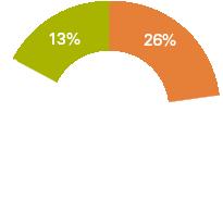 13% 61% 26%