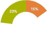 23% 62% 15%