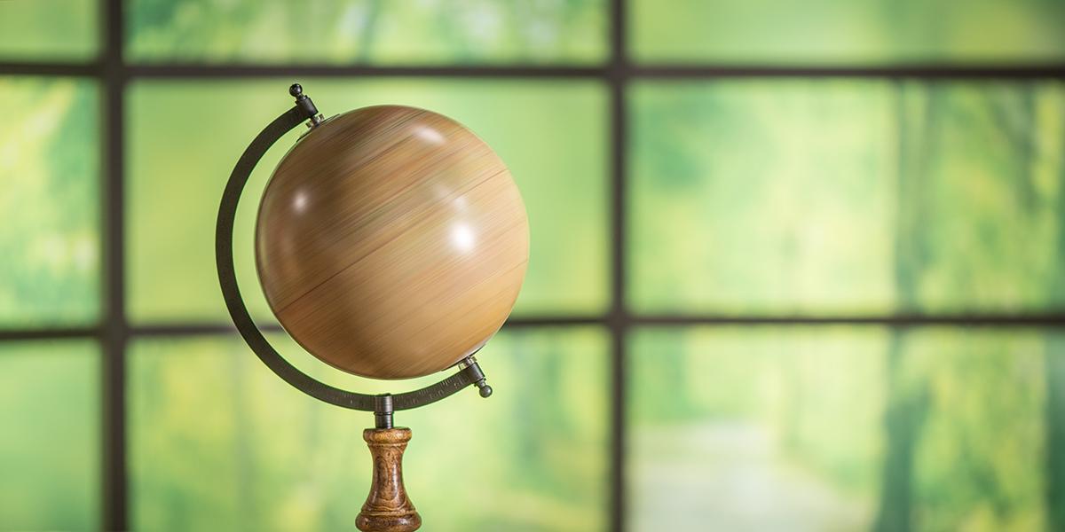 Spinning globe visual