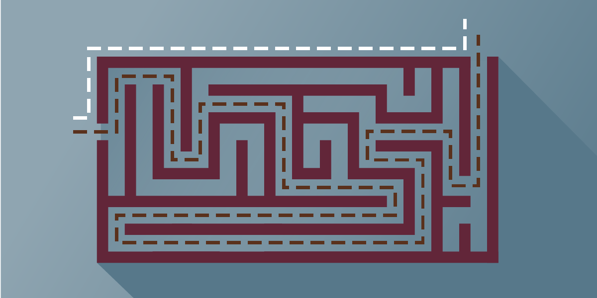 graphic of a maze