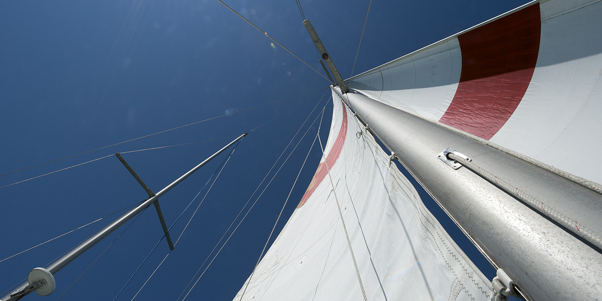 Sails on a ship