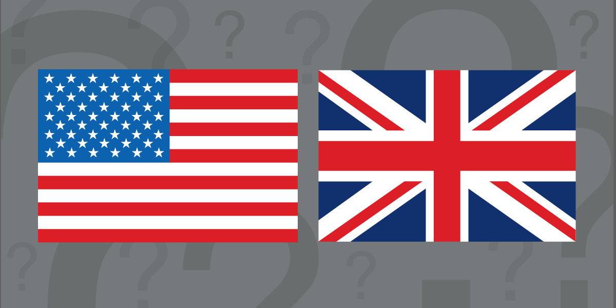 US and UK flags