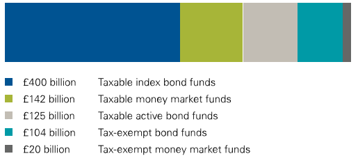 Fixed income assets managed by Vanguard: about  £790 million