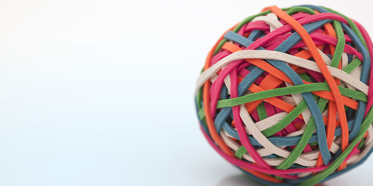 Ball made of rubberbands