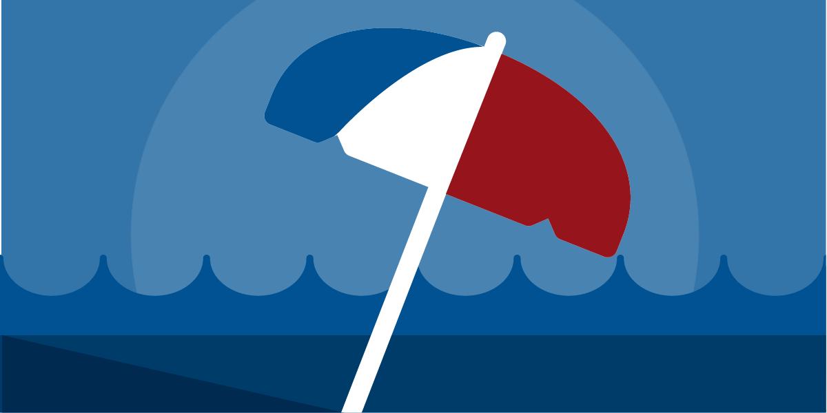 Umbrella graphic icon