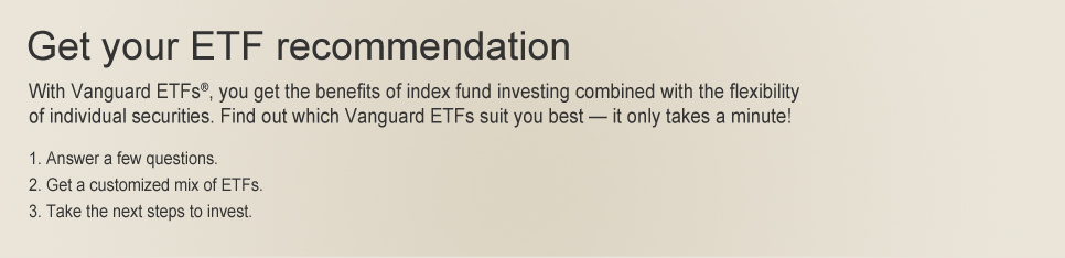 Get an ETF recommendation and see which exchange-traded funds may suit you best.